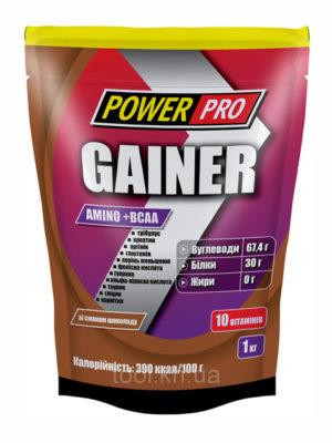 Гейнер шоколад 1кг Power Pro
